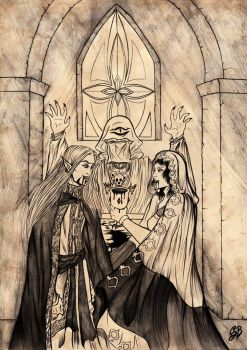 LOTR commission : Sauron and Aradheleth marriage by saphir93