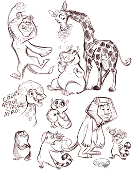 Madagascar Doodles by sharkie19