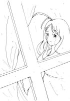 LINEART-Where did you go....? by Aiko-Hirocho