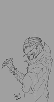 Lineart - Turian Disc Jockey by Jane2Audron