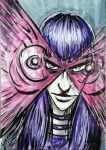 X-men Psylocke Sketch Card by FWACATA