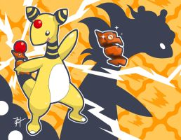 Ampharos' Armored Tail-Brace by HarlequinWaffles