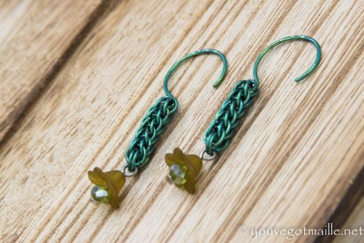 Full Persian Chainmaille Earrings by youvegotmaille