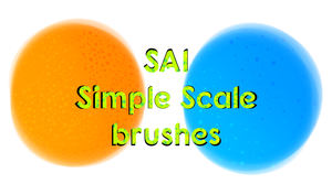 SAI Simple Scale Brushes by horse14t