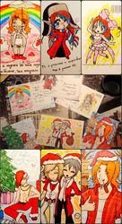 Christmas card trade 2014 collage by Airi-nyan