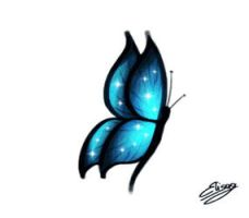 Blue Butterfly by ElyGraphic