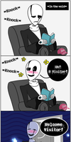 (UNDERTALE Comic) WingDing Dong Ditch by PinkCapPanda