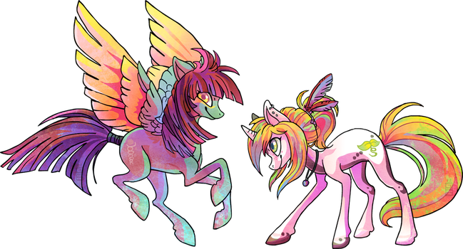 Slipstream and Exo by griffsnuff