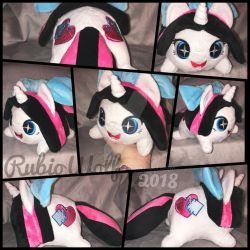 MLP OC 'Heart Stitches' Chibi/Roll/Stacking Plush by RubioWolf