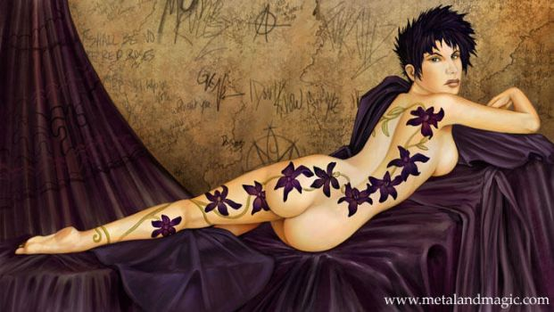 Black Orchids by ursulav