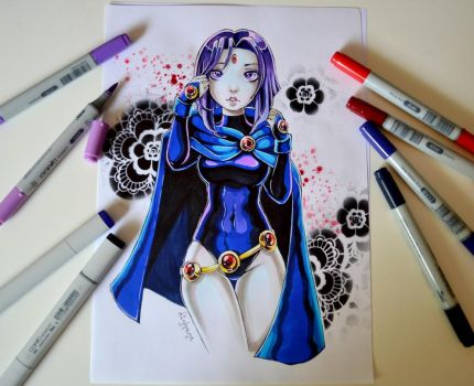 Raven from Teen Titans by Lighane