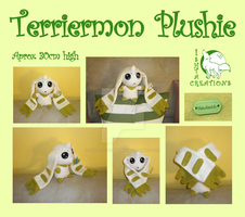 Terriermon big plushie by Ishtar-Creations