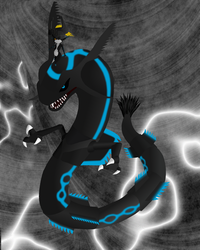 Midna and Shadow Rayquaza by Pr0meth3us