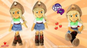 Equestria Girls - AppleJack - Handmade Plush Doll by Lavim