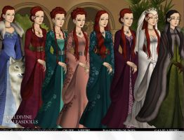 Sansa Stark's Progression by WillowTreeWitch