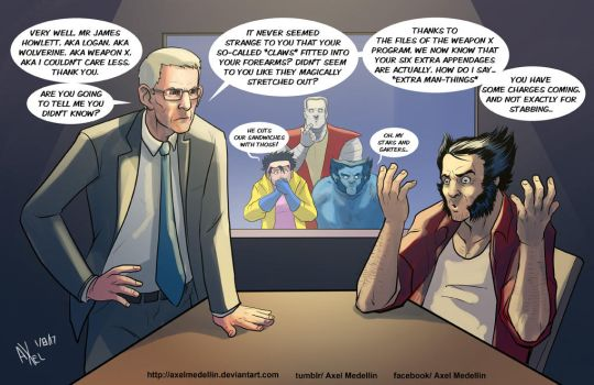 TLIID 353. John Munch and Wolvie's claws mystery by AxelMedellin