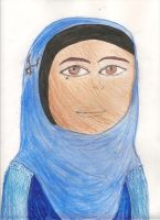 Girl Wearing a Hijab by TheMagnificentMorado