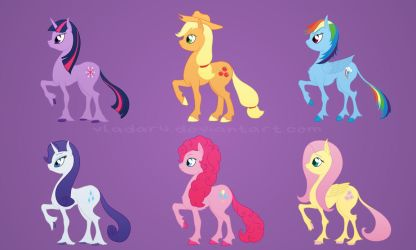 MLP Mane 6 redesign by Vladar4