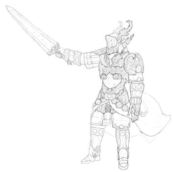 Warrior dude by Di-Dorval
