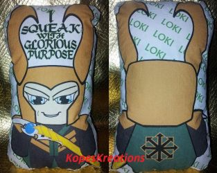LOKI 'I Squeak With Glorious Purpose' Squeakr Doll by kopeskreations