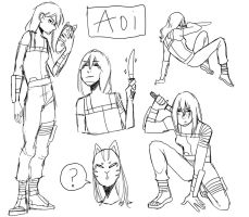 [C] Aoi Sketches by KatyaHam