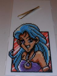 Shell from Shining Force - Pixel beads - Hama by Valijka