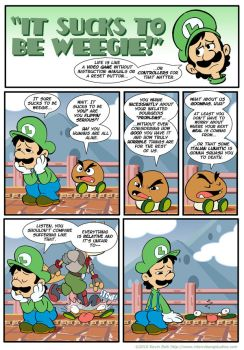 Sucks to be Luigi: Goombas by kevinbolk