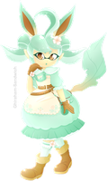 Leafeon Inkling by Ghiraham-Sandwich