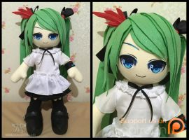 Hatsune Miku 60cm - World is Mine ver by renealexa-plushie