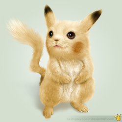 Real Pikachu by hextupleyoodot