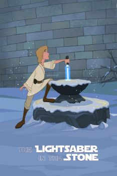 The Lightsaber in the Stone by erykh