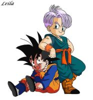 Goten and Trunks by Leila490