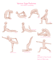 Ten Yoga Postures (doll base) by HanaCurach