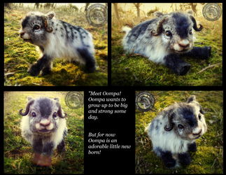 -SOLD-HAND MADE Poseable Fantasy Baby Muskox! by Wood-Splitter-Lee