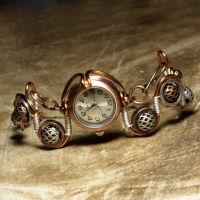 Steampunk watch bracelet by CatherinetteRings
