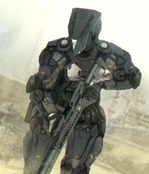 Medium range combat exosuit. by matgyro