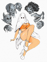 Halloween Pinup: Ghost by justintcoons