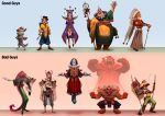 Characters design lineup by Sommum