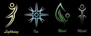 Secondary Elemental Symbols by Mistress-DarkLoki