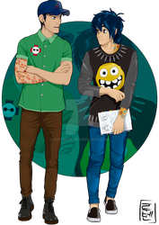 Disney University - Hiro and Tadashi by Hyung86