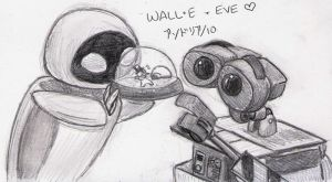 30 OTPs - WALL-E + EVE by ryukodragon