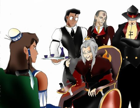 Legend of Korra book 4: Girl talk by Omnipotrent