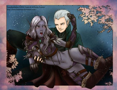 WOW and DmC: Sylvanas and Vergil Comm by Lauralanthalasa