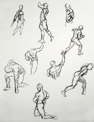 figure Drawing with sharpie 2 by Ernimator