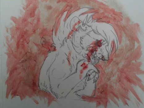 Bloody mess of me by MellieNeko