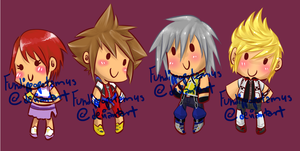 KH Dolls by Fundippopotamus