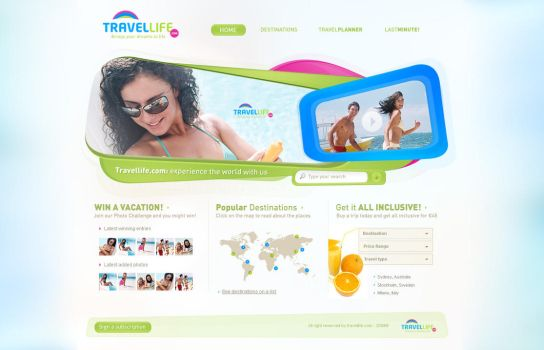 Travellife Layout by ejsing