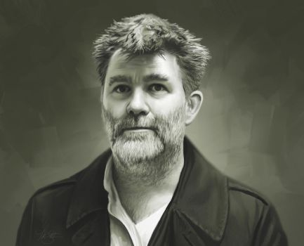 James Murphy Portrait Painting by timothysmithdesign