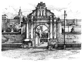 lateral entrance-sketch by icarosteel