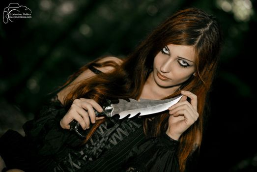 Girl with Blade by CradleOfDoll